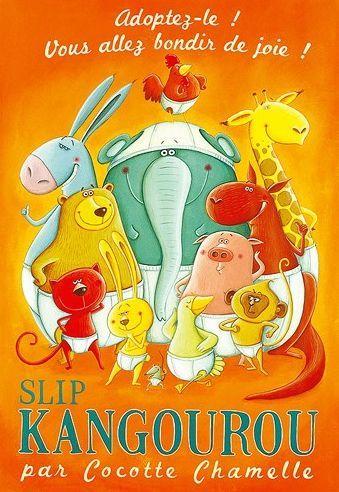 Carte postale originale d'amandine Piu, Slip Kangourou, Editions de mai