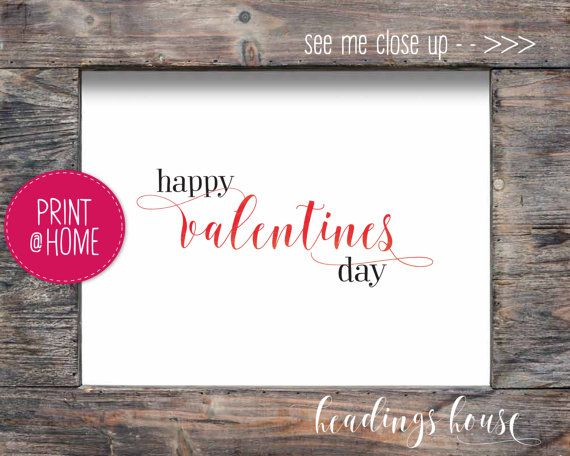 Repin for later - - - Cheap Valentines Day Gift Printable Valentines Card for Teacher Quick Valentines Day Idea Headings House HH1005