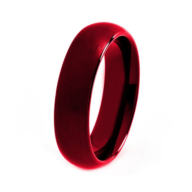 Mens Wedding Band Red