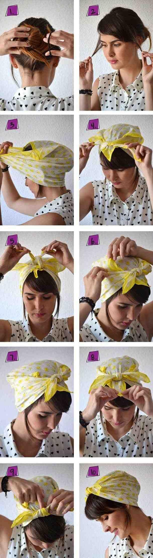 rockabilly hairstyle, bandana, 50s