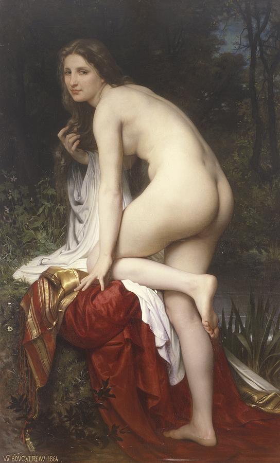 William Adolphe Bouguereau, Woman bathing, 1864