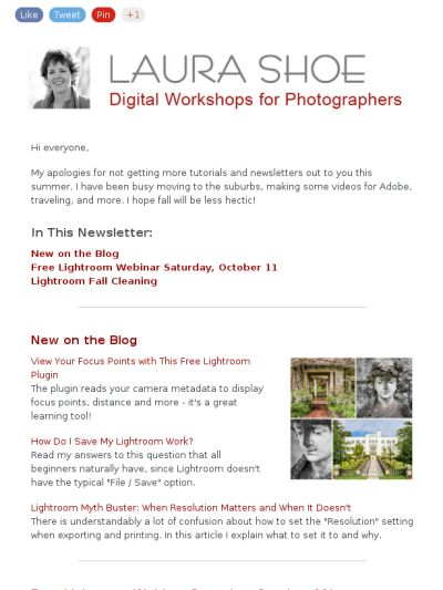 Check out this Lightroom newsletter