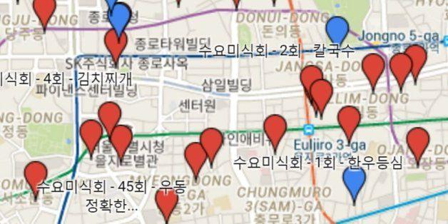 수요미식회 + 백종원 맛집 260개를 정리한 구글 맵