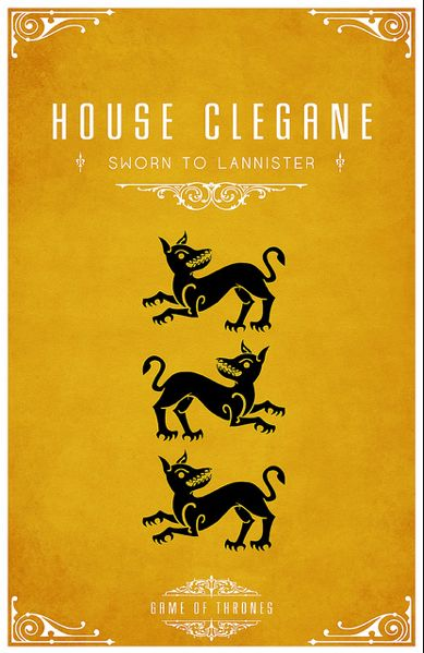 Game of Thrones:  Dust Jackets, Books Jackets, Houses Clegan, Games Of Thrones, Minimalist Poster,  Dust Covers, Posters, Game Of Thrones,  Dust Wrappers
