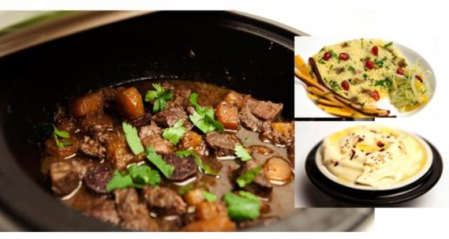 Lamstajine met couscous, wortel-venkelsalade en hummus - Recept | VTM Koken