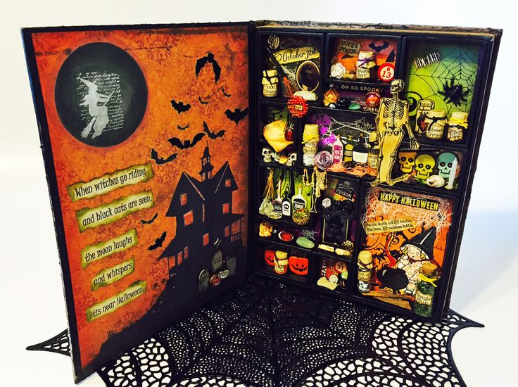 #papercrafting #DIY #tutorial for #Halloween - Papercrafting Inspiration! Check out this step-by-step tutorial for creating this amazing #MixedMedia Halloween Project: An Apothecary Cabinet Book! Not into Halloween? No worries - you can use this same technique to turn the #Ideaology #ConfigurationsBook from @timholtz into a decor item for any holiday or a shadowbox for your photos, ephemera or collection. Or, give it as a gift! There's a challenge too! And a $25 Amazon Gift Card up for…