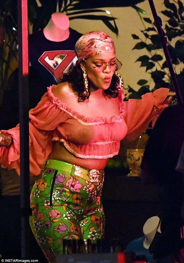 Dancing queen: Rihanna looked like she didn't have a care in the world as she filmed a music video with DJ Khaled in the Little Haiti neighborhood of Miami on Monday night