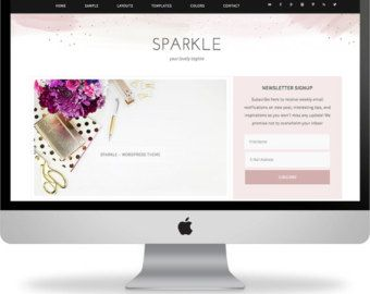 Sparkle - Feminine Wordpress Theme
