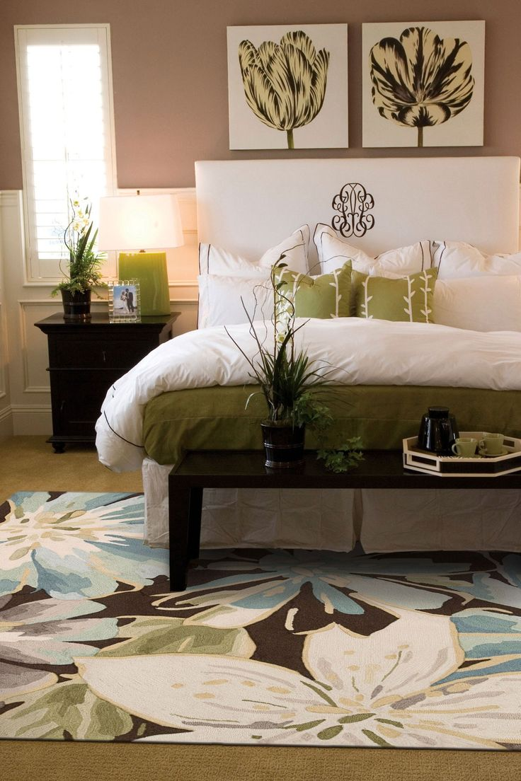106 best decorate with floral patterns images on pinterest bedroom decorating ideas i love the monogrammed headboard and the colors