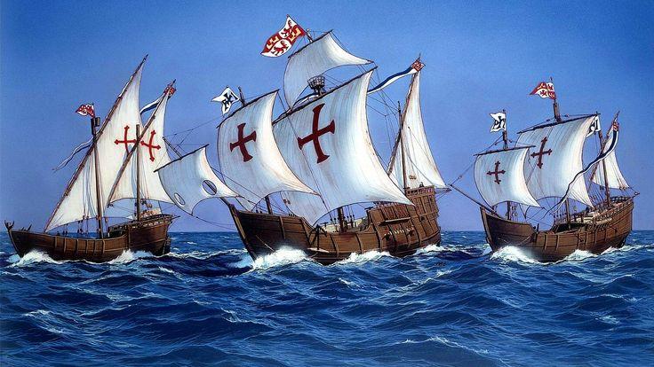 Nao santa mar a y carabelas pinta y ni a 1492 armada for Cuarto viaje de cristobal colon