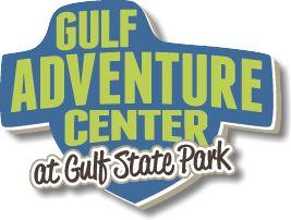 Gulf Adventure Center at Gulf State Park Logo - ziplining, kayaking, paddleboarding