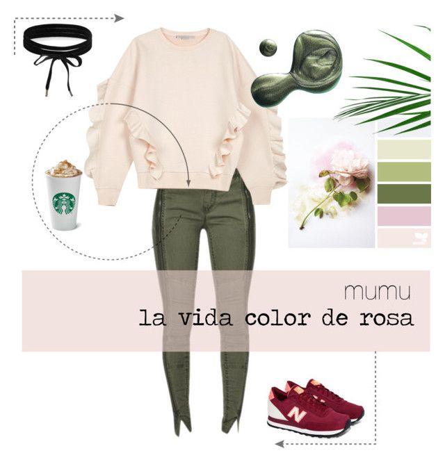 """mumu la vida color de rosa 2"" by onmymumu on Polyvore featuring moda, STELLA McCARTNEY, New Balance, Boohoo y Illamasqua"