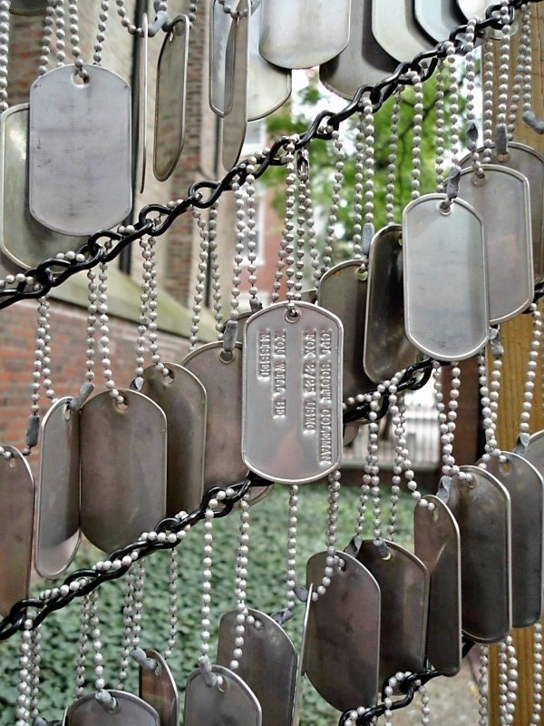 Boston's Freedom Trail - Lost Soldier Tags