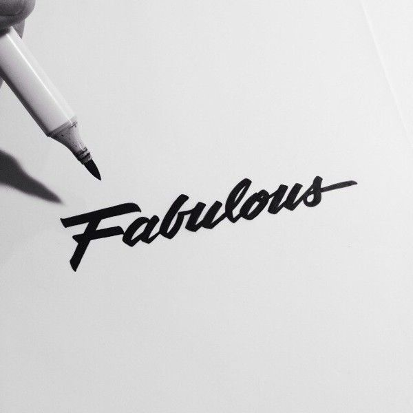 Brush Lettering Collection No. 1 by Neil Secretario, via Behance