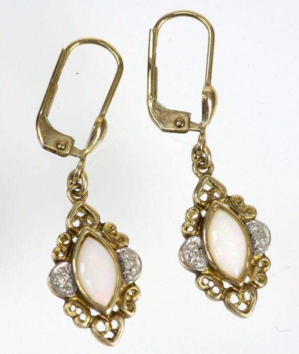 Online veilinghuis Catawiki: Opalen oorbellen