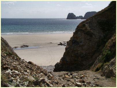 Camaret-sur-Mer wandern - Strand Veryac'h, Pointe de Pen Hir