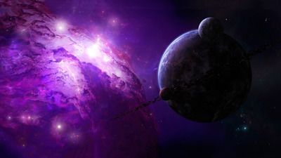 Purple universe wallpaper