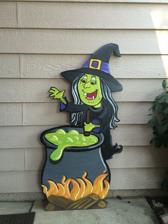 Halloween Decoration Halloween Yard Decor Witch by CreativChick