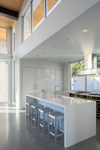 Design Ideas For A Mid Sized Contemporary Kitchen Pantry