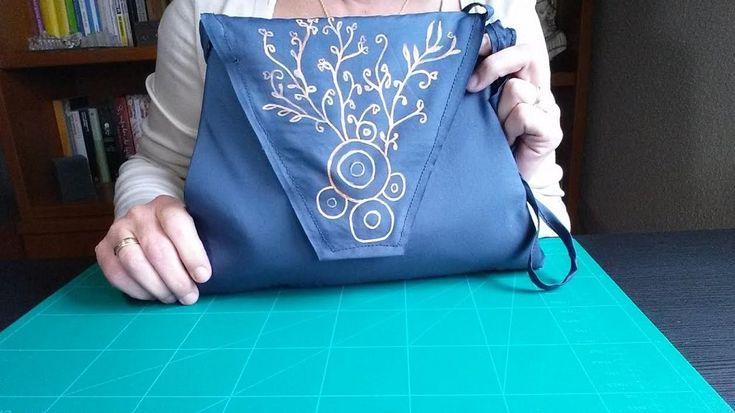 Cómo hacer un bolso con tela de paraguas | Aprender manualidades es facilisimo.com