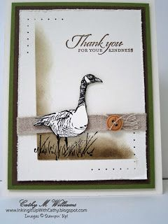 Stamps:       Wetlands Inks:          Early Espresso, Soft Suede, Crumb Cake Paper:      Very Vanilla, Garden Green, Early Espresso Other...