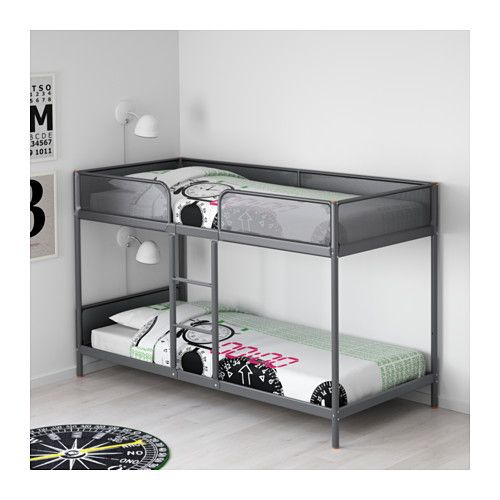 TUFFING Bunk bed frame  - IKEA  Adding throw pillows  makes this more of a double couch :)