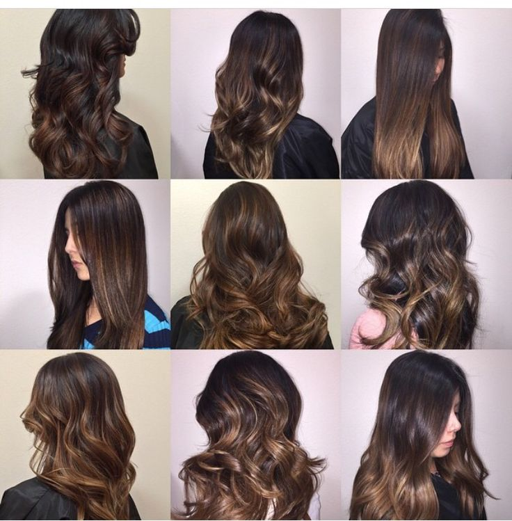 Love all these! Brunette balayage