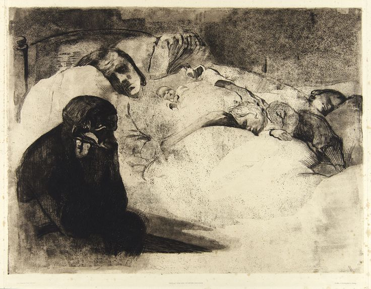 Käthe Kollwitz, <em>Arbeitslosigkeit (Umemployment)</em>, 1909, 15 3/4 x 21 in. Etching on paper. Pomona College Collection. Gift of the Culley Collection