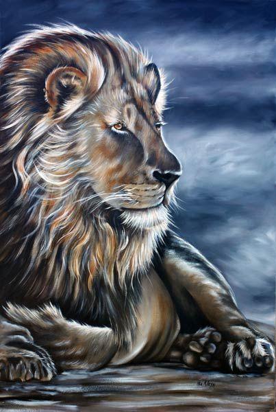 Ilse KLeyn - Lion www.artofkleyn.co.za