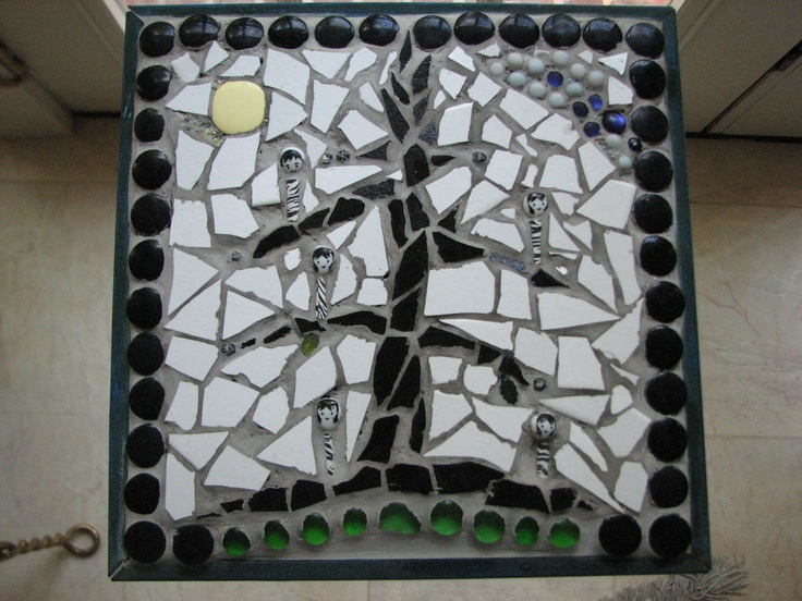 how to make a broken glass mosaic