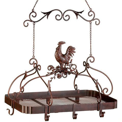 Country Rooster Kitchen Pot Rack – Baubles-N-Bling