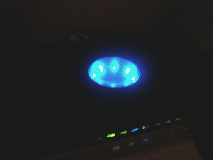 BLUE LED LIGHT FROM INTERNET ROUTER