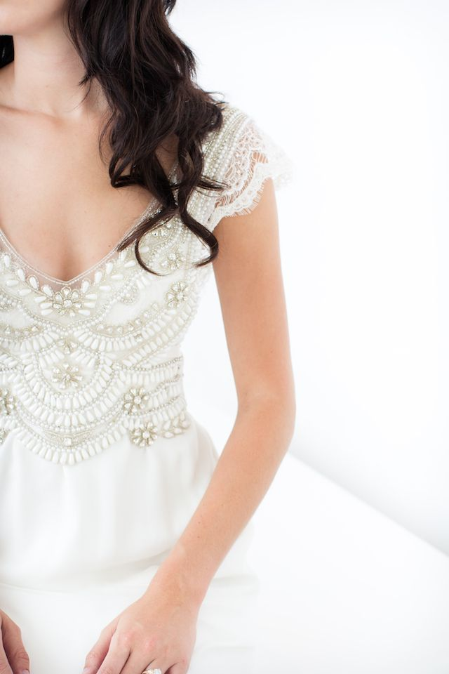 Anna Campbell wedding dress | Canary Grey and a&bé bridal boutique | see more on: http://burnettsboards.com/2015/11/incredible-wedding-dresses/