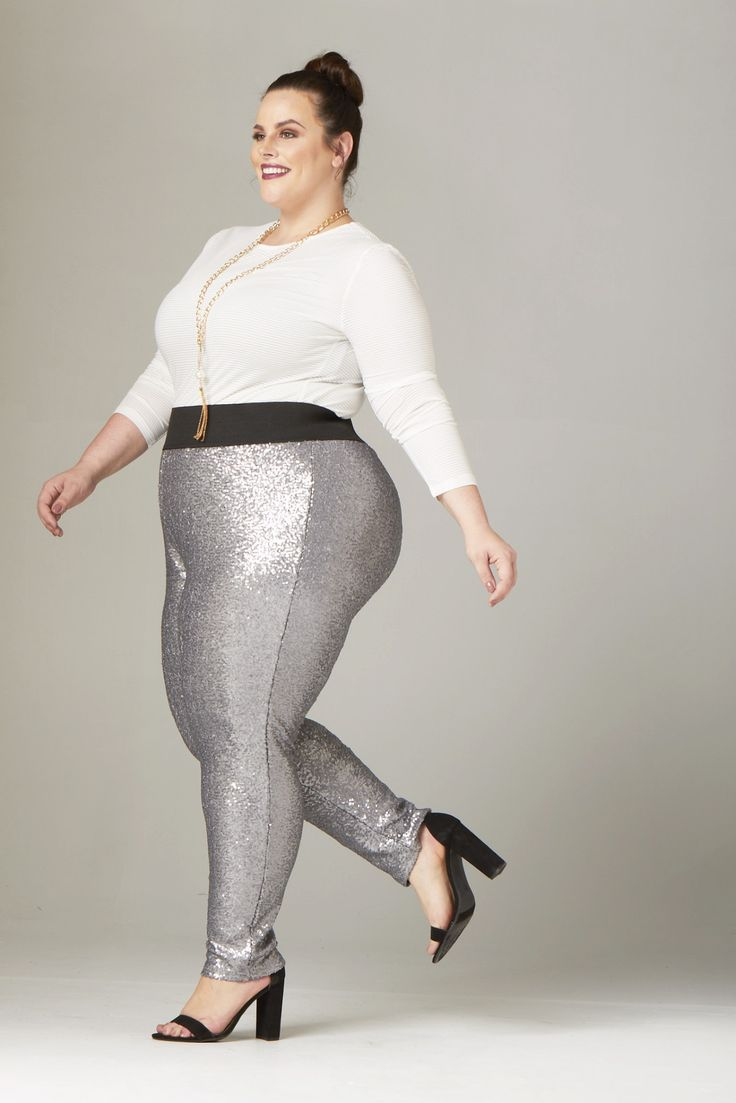 Plus Size Clothing for Women - Fancy Pants - Silver - Society+ - Society Plus - Buy Online Now! - 3