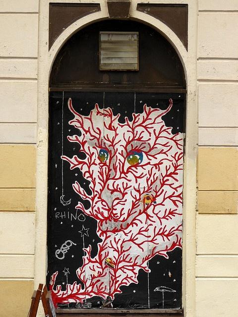 Dragon door in Dresden