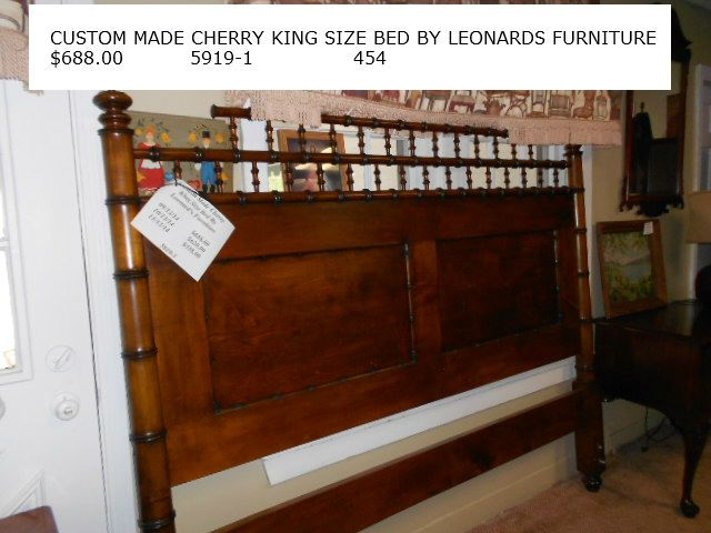 Delightful Custom Made Cherry King Size Bed By Leonards Furniture $688.00