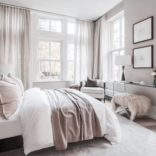 Master Bedrooms, Neutral Bedroom Decor And White