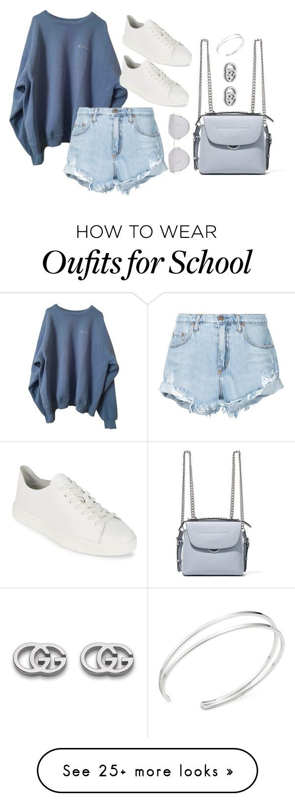 """""""Untitled #4263"""" by magsmccray on Polyvore featuring Nobody Denim, Calvin Klein, Fendi, Gentle Monster and Gucci"""