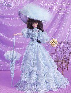 Image detail for -... Bridesmaid Dress Paradise 62 for Barbie Doll Crochet Pattern   eBay