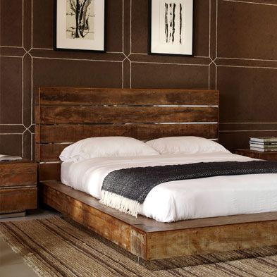 reclaimed wood bed because a simple design that is clean sort of but yet has the classic old feel to it