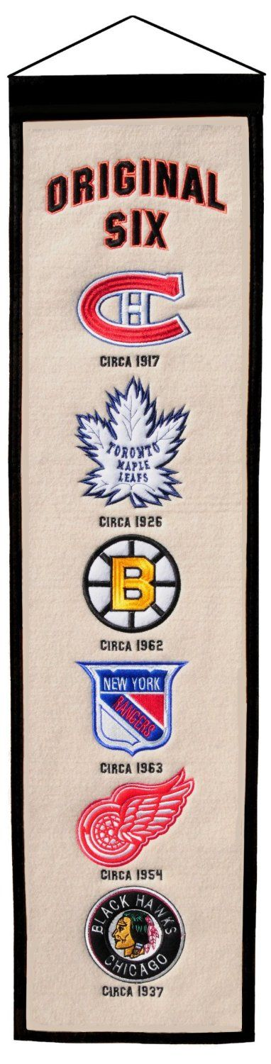 Original Six Heritage Banner by Winning Streak Sports | Sports World Chicago $29.95