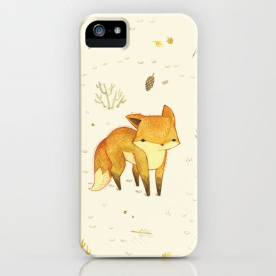 Lonely Winter Fox iPhone Case by Teagan White | Society6