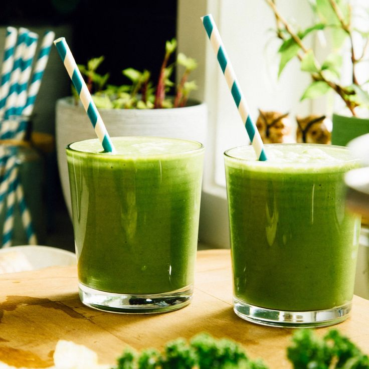 I make this green smoothie for my husband and I every morning! It's such a great hit of antioxidants, the perfect way to get your greens in.