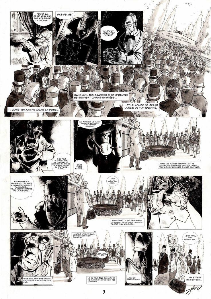 Le Percepteur tav3 #percepteur#bd#comics#noir#blanche#beethoven#die#décés#satan#diable#devil#machine#composeur#ink#strange#vien#foule#funeral#funérailles#horse#entraineur#corbillard#bed#dark#obscurité#tenebre#