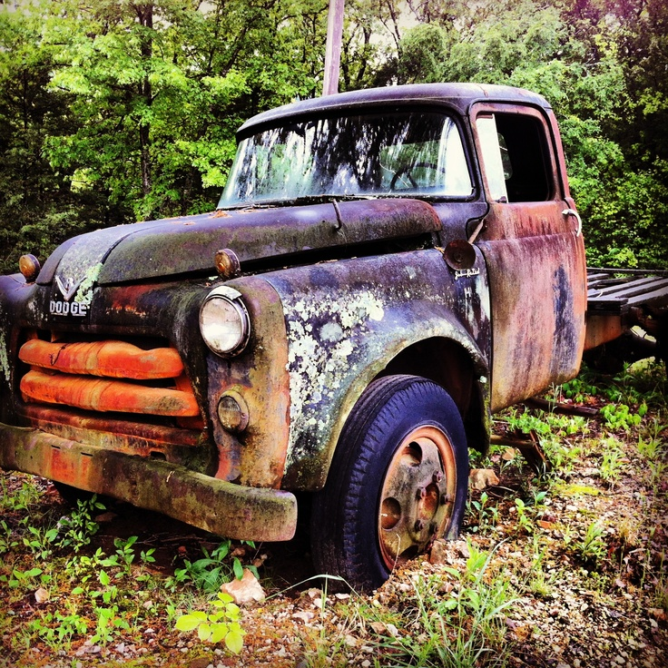 Old Rusty Cars In Barns