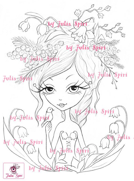Digi Stamps Digital stamp Spring Flowers Lily of the by JuliaSpiri