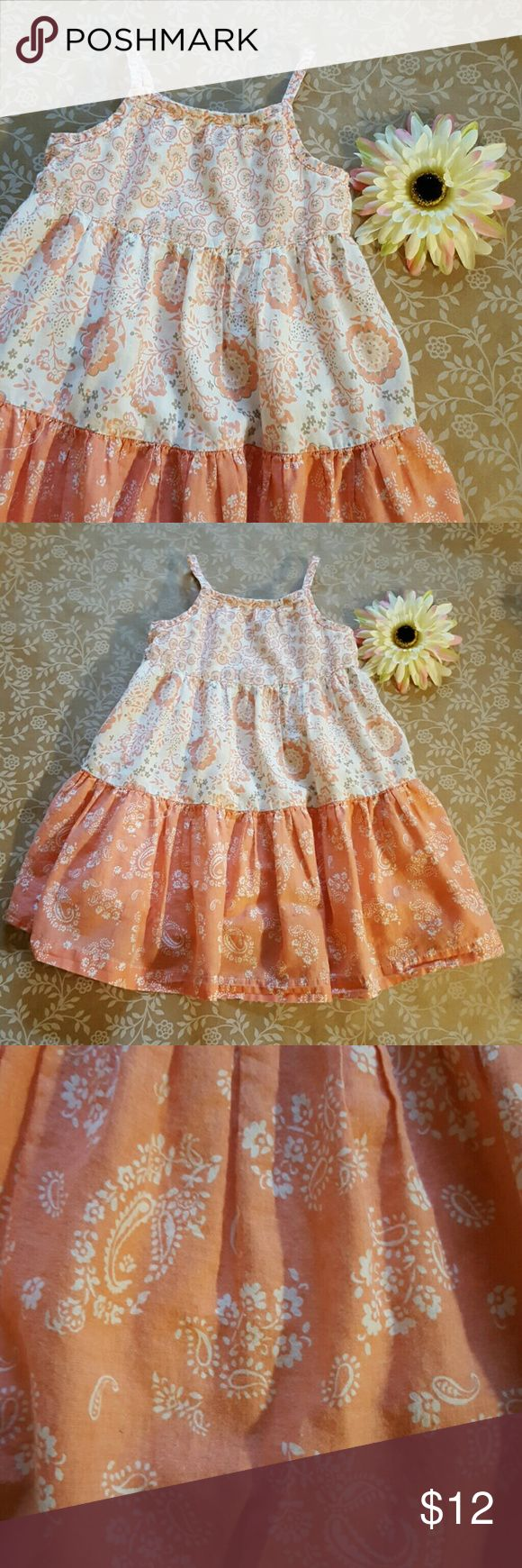 Coral Sundress by Old Navy 18-24 Months Good Used condition. Small spot on bottom of dress see last picture. Under layer for volume. Cotton. Old Navy Dresses Casual