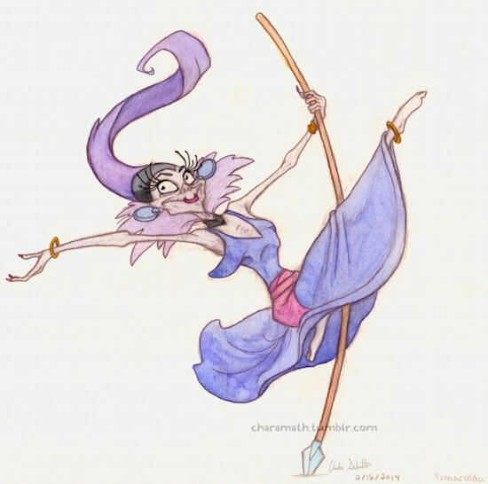 Yzma as Esmeralda - Yzma is Best Princess by Charamath (charamath.tumblr.com)