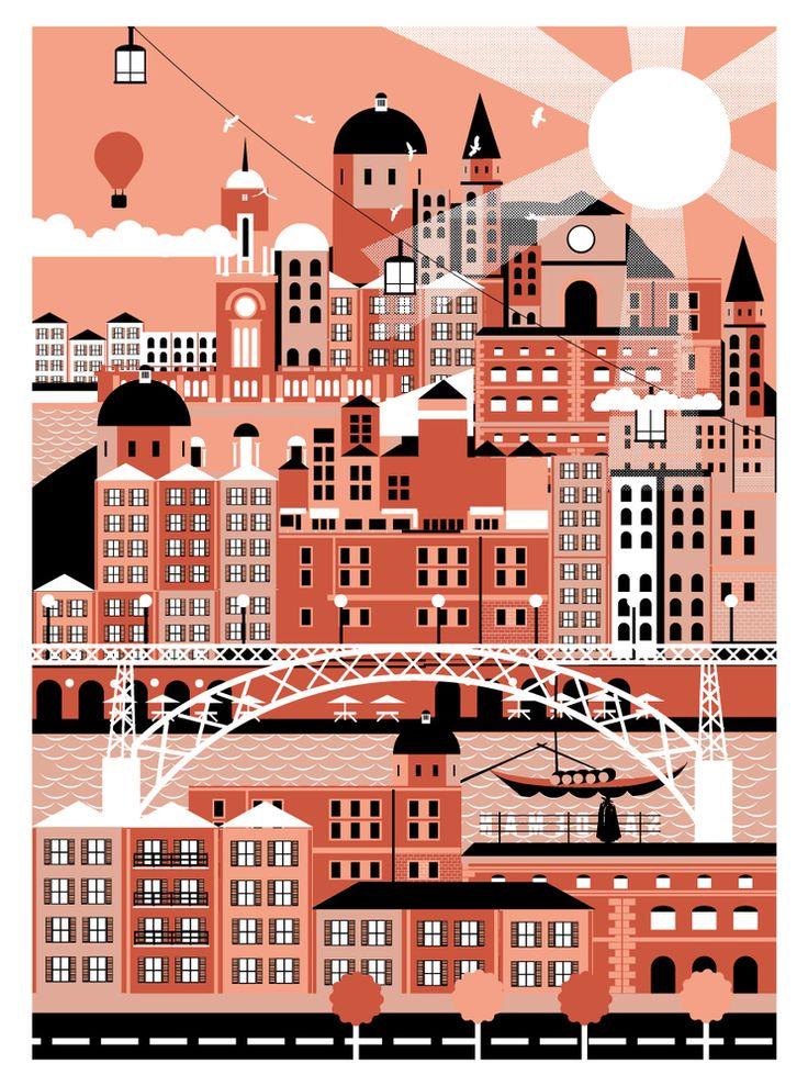 Porto - City Art Prints by Horse Studio {bloodandthunder.bigcartel.com}