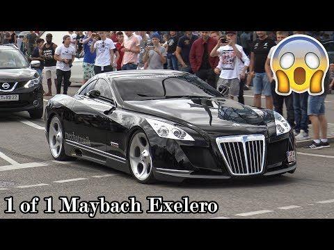 The 8 Million Dollar Maybach Exelero in Motorworld Böblingen! Great Sounds! - YouTube